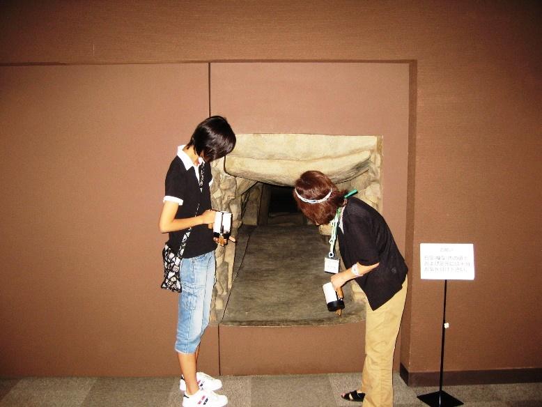 五郎山古墳館には実物大レプリカ