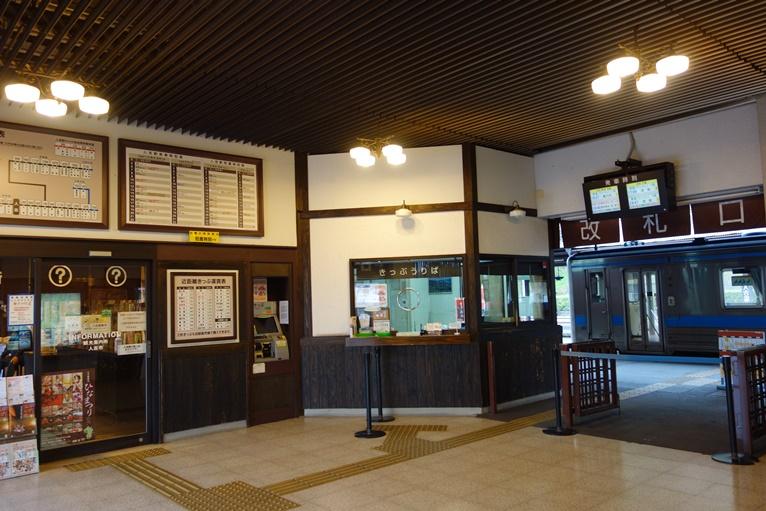 JR人吉駅のレトロな構内