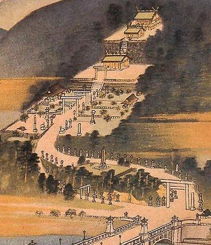 台湾神宮の絵図
