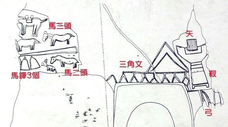 大村7号横穴墓の装飾図