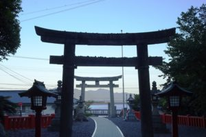 大島の中津宮から港を望む(宗像)