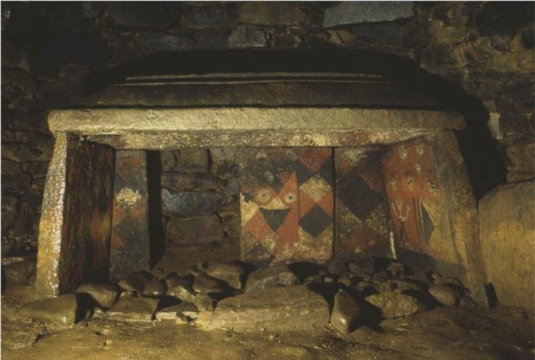 チブサン古墳 石屋形の絵