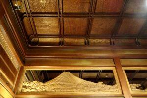 弘前「翠明荘」 折上げ格天井