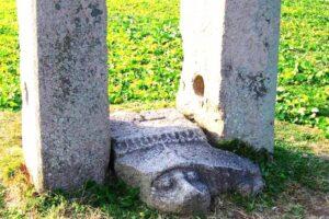 皇龍寺の幢竿支柱(どうかんしちゅう)の足元の亀趺(きふ )