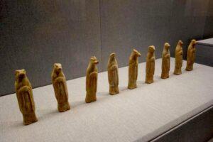 十二支の陶俑。洛陽博物館の展示