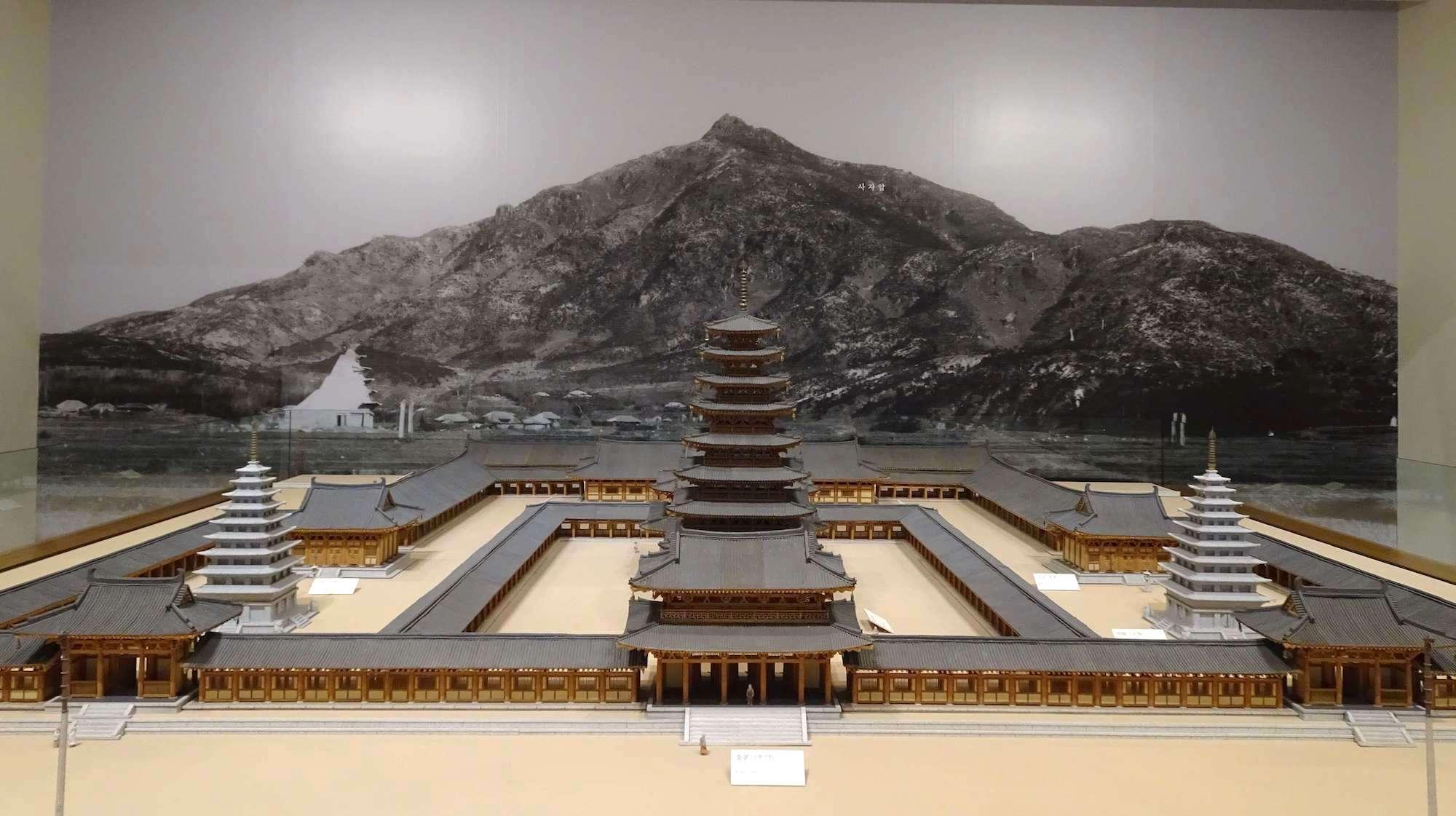 益山弥勒寺ジオラマ